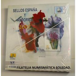 LIBRO FILATELICO CON SELLOS 2007 ESPAÑA Y ANDORRA