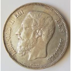 5 Fr Bélgica 1869