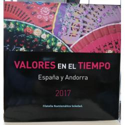 LIBRO FILATELICO CON SELLOS 1996 ESPAÑA Y ANDORRA