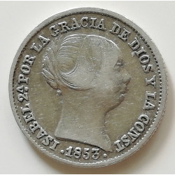 1 REAL 1853 ISABEL II