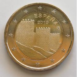 2 euros Las Murallas de Ávila 2019