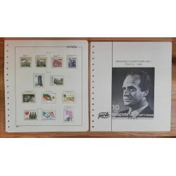 Lote de sellos 86/90 y hojas Pardo transparentes.
