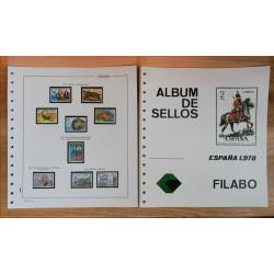 Lote de sellos 1978/80 con hojas Filabo negros.