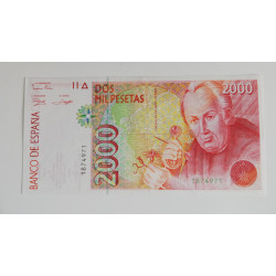 Billete de 2.000 pesetas