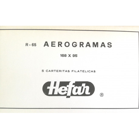 HEFAR R65 AEROGRAMAS 168 X 95