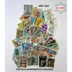 AÑO COMPLETO SELLOS 1967
