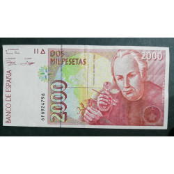 Billete de 2.000 pesetas 1992