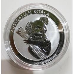 AUSTRALIA 1 DOLAR 2020 KOALA 1 OZ PLATA