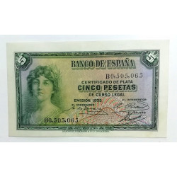 BILLETE DE 5 PESETAs DE 1935