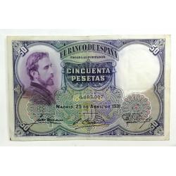 50 PESETAS 25 ABRIL 1931