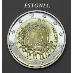2 € ESTONIA BANDERA 2015