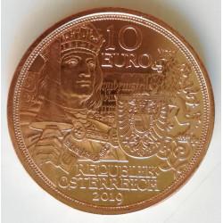 10 euros de Austria año 2019