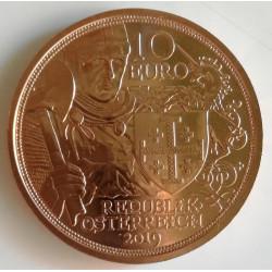 10 euros de Austria año 2019 Godofredo de Bouillón